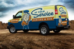 At Your Service Heating and Air Truck